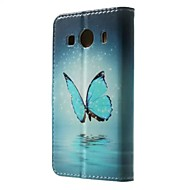 Για Samsung Galaxy Θήκη Θήκη καρτών / Πορτοφόλι / με βάση στήριξης / Ανοιγόμενη / Με σχέδια tok Πλήρης κάλυψη tok ΠεταλούδαΣυνθετικό