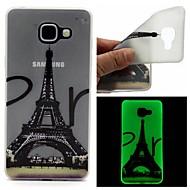 Для Кейс для  Samsung Galaxy Сияние в темноте / Матовое / Полупрозрачный / С узором Кейс для Задняя крышка Кейс для Эйфелева башня TPU