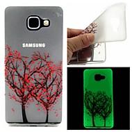 Для Кейс для  Samsung Galaxy Сияние в темноте / С узором Кейс для Задняя крышка Кейс для дерево TPU Samsung A7(2016) / A5(2016)