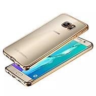 Для Кейс для  Samsung Galaxy Прозрачный Кейс для Задняя крышка Кейс для Один цвет TPU Samsung S6 edge plus / S6 edge