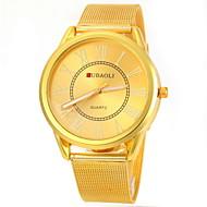 Недорогие Фирменные часы-JUBAOLI Муж. Кварцевый Наручные часы Повседневные часы Нержавеющая сталь Группа Кулоны Золотистый