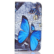 Недорогие Чехлы и кейсы для Galaxy J7-Кейс для Назначение SSamsung Galaxy Кейс для  Samsung Galaxy Бумажник для карт Кошелек со стендом Флип Чехол Бабочка Кожа PU для J7 J5