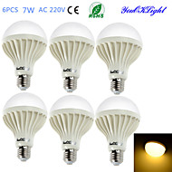 Χαμηλού Κόστους Λαμπτήρες LED σφαίρα-YouOKLight 550 lm E26/E27 LED Λάμπες Σφαίρα B 12 leds SMD 5630 Διακοσμητικό Θερμό Λευκό AC 220-240V
