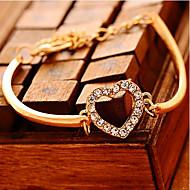 preiswerte -Ketten- & Glieder-Armbänder Einzigartiges Design Liebe Modisch Luxus-Schmuck Imitation Diamant Herzform Liebe Gold Schmuck Für Party1