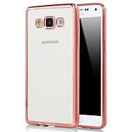 billige Galaxy A8 Etuier-For Samsung Galaxy etui Belægning Transparent Etui Bagcover Etui Helfarve TPU for Samsung A7(2016) A5(2016) A9 A8 A7 A5