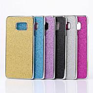 Mert Samsung Galaxy S7 Edge Galvanizálás Case Hátlap Case Csillámpor PC Samsung S7 edge / S7 / S6 edge plus / S6 edge / S6