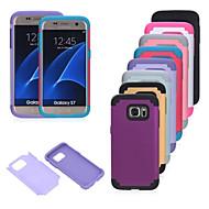 baratos Capinhas /Cases para Samsung-Para Samsung Galaxy S7 Edge Antichoque Capinha Capa Traseira Capinha Cor Única PC Samsung S7 edge / S7