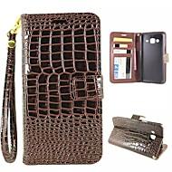 Для Кейс для  Samsung Galaxy Бумажник для карт / Кошелек / со стендом / Флип Кейс для Чехол Кейс для Геометрический рисунокИскусственная