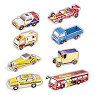 billige Puslespil-3D-puslespil Papirmodel Legetøjsbiler Legetøj Bil 3D 8 Stk.