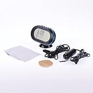 abordables Rear View Monitor-multifuncional mini LCD del termómetro del coche con un voltímetro la tensión temperatura pantalla digital medidor de voltaje reloj