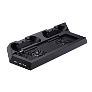 Dual Controller USB Charging Dock Base with 2 Cooling Fan and 3 USB HUB for Sony PS4