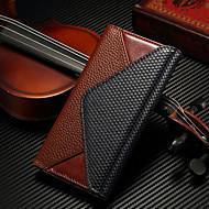 Для Samsung Galaxy S7 Edge Кошелек / Бумажник для карт / со стендом / Флип Кейс для Чехол Кейс для Геометрический рисунок Натуральная кожа