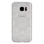 Για Samsung Galaxy S7 Edge Θήκες Καλύμματα Παγωμένη Διαφανής Πίσω Κάλυμμα tok Λουλούδι PC για Samsung S7 Active S7 plus S7 edge plus S7