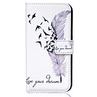 cheap Cases / Covers for Samsung-Case For Samsung Galaxy Samsung Galaxy Case Card Holder Wallet with Stand Flip Full Body Cases Feathers PU Leather for S8 Plus S8 S7 S6