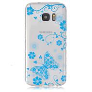 Для Кейс для  Samsung Galaxy Прозрачный Кейс для Задняя крышка Кейс для Бабочка TPU SamsungS7 / S6 edge / S6 / S5 Mini / S5 / S4 Mini /