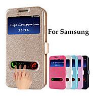 用途 Samsung Galaxy Note ケース カバー ウィンドウ付き フリップ フルボディー ケース 純色 PUレザー のために Samsung Note 5