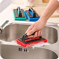 svamp rengøring børste med håndtag (tilfældig farve)