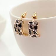 preiswerte -Damen Strass Ohrstecker - Modisch Gold Ohrringe Für Alltag