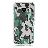 billige Galaxy S7 Etuier-For Samsung Galaxy etui Mønster Etui Bagcover Etui Camouflage TPU for Samsung S7 S6 edge S6 S5 Mini S5 S4 Mini S4 S3 Mini S3 S2