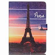 Eiffel-torni folio nahka seistä kansi kotelo jalustalla ipad ilman