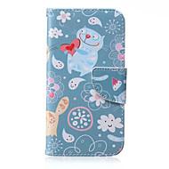 Для Кейс для  Samsung Galaxy Кошелек / Бумажник для карт / со стендом / Флип Кейс для Чехол Кейс для Мультяшная тематикаИскусственная