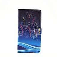 Voor Samsung Galaxy hoesje Kaarthouder / met standaard / Flip / Patroon / Magnetisch hoesje Volledige behuizing hoesje Paardenbloem