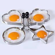 お買い得  キッチン用小物-4個/ロット4つのスタイルステンレス鋼のオムレツ金型装置の卵ツール