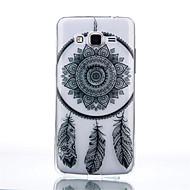 """Для Кейс для  Samsung Galaxy Прозрачный Кейс для Задняя крышка Кейс для Рисунок """"Ловец снов"""" TPU Samsung Grand Prime / Core Prime"""
