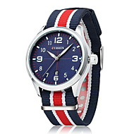 저렴한 -CURREN 남성용 손목 시계 석영 일본 쿼츠 뜨거운 판매 섬유 밴드 참 멀티컬러