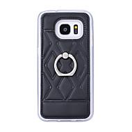 Etui Til Samsung Galaxy Samsung Galaxy S7 Edge Ringholder Bagcover Geometrisk mønster Kunstlæder for S7 edge plus S7 edge S7 S6 edge plus