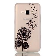 Для Кейс для  Samsung Galaxy Сияние в темноте Кейс для Задняя крышка Кейс для Одуванчик TPU Samsung J1 (2016)