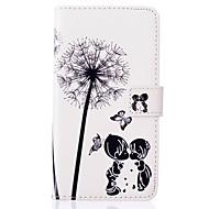 Для Кейс для  Samsung Galaxy Кошелек / Бумажник для карт / со стендом / Флип Кейс для Чехол Кейс для Одуванчик Искусственная кожа Samsung
