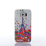 Для Samsung Galaxy S7 Edge Чехлы панели С узором Задняя крышка Кейс для Эйфелева башня TPU для Samsung S7 edge S7 S6 edge S6
