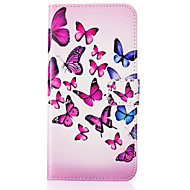Для Кейс для  Samsung Galaxy Кошелек / Бумажник для карт / со стендом / Флип Кейс для Чехол Кейс для Бабочка Искусственная кожа SamsungJ5