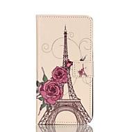 Недорогие Чехлы и кейсы для Galaxy S6 Edge Plus-Для Samsung Galaxy S7 Edge Кошелек / Бумажник для карт / со стендом / Флип Кейс для Чехол Кейс для Эйфелева башня Искусственная кожа