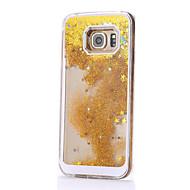Недорогие Чехлы и кейсы для Galaxy S7 Edge-Для Samsung Galaxy S7 Edge Движущаяся жидкость Кейс для Задняя крышка Кейс для Градиент цвета PC Samsung S7 edge / S7