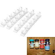 abordables Organización de encimera y pared-20 clip set cocina botella especia organizador tienda bastidor gabinete puerta especia