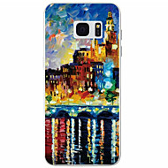 Mert Samsung Galaxy S7 Edge Minta Case Hátlap Case Kilátás TPU Samsung S7 edge / S7 / S6 / S5