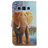 halpa Galaxy Trend Duos-Varten Samsung Galaxy kotelo Korttikotelo / Lomapkko / Tuella / Flip Etui Kokonaan peittävä Etui Elefantti Tekonahka SamsungTrend Duos /