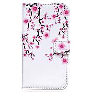 preiswerte Handyhüllen-Hülle Für Samsung Galaxy Samsung Galaxy Hülle Geldbeutel / Kreditkartenfächer / mit Halterung Ganzkörper-Gehäuse Blume PU-Leder für S8 Plus / S8 / S7 Active
