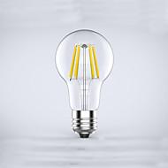 cheap LED Filament Bulbs-1pc 600 lm E26/E27 LED Filament Bulbs A60(A19) 6 leds COB Waterproof Decorative Warm White AC 85-265V