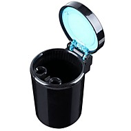 ZIQIAO Movable Ashtray Car LED Light Ashtray Auto Travel  Ash Holder Cup