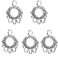 preiswerte -Fura multifunctinal Edelstahl erweitert Schlüsselring mit 8-Ringe - Silber (5 Stück)