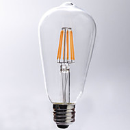 7W E26/E27 LED Filament Bulbs ST64 8 COB 720 lm Warm White 2700 K Waterproof Decorative AC 220-240 V
