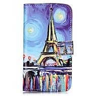 olcso Mobiltelefon tokok-Case Kompatibilitás LG K8 LG LG K10 LG K7 LG G5 Kártyatartó Pénztárca Állvánnyal Flip Mágneses Minta Héjtok Eiffel torony Kemény PU bőr