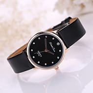 Women's Fashion Watch Quartz Imitation Diamond Casual Watch Leather Band Charm Black White Blue Red Brown Pink