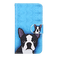 Для Кейс для  Samsung Galaxy Бумажник для карт / Кошелек / со стендом / Флип Кейс для Чехол Кейс для С собакой Искусственная кожа Samsung