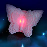 kreativ farve skiftende farverige sommerfugl førte vågelampe