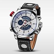 WEIDE Muškarci Ručni satovi s mehanizmom za navijanje digitalni sat LCD Kalendar Kronograf Vodootpornost Sat s dvije vremenske zone alarm