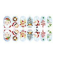 abordables Maquillaje y manicura-preciosa de fluorescencia de la joyería del clavo de Navidad